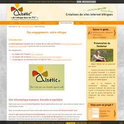 Sites Internet éthiques et développement durable - Alsétic