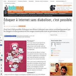 Éduquer à Internet sans diaboliser, c'est possible !