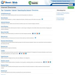 Internet Directories in the Best of the Web Directory