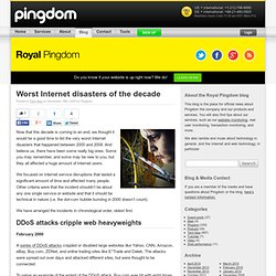 Worst Internet disasters of the decade | Royal Pingdom