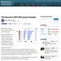 The Internet Is 20% Of Economic Growth