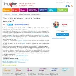 Quel poids a Internet dans l'économie française
