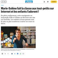 Marie-Solène fait la classe aux tout-petits sur Internet...