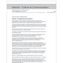 Internet : un danger pour les enfants ? - Annabelle Rocconi