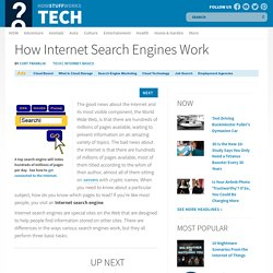 How Internet Search Engines Work