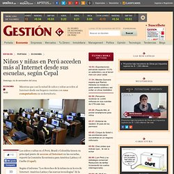 Niños y niñas en Perú acceden más al Internet desde sus escuelas, según Cepal