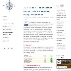 10 sites internet essentiels en voyage (trop) méconnus