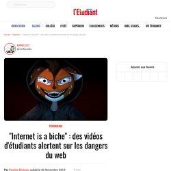 """""""Internet is a biche"""" : des vidéos d'étudiants alertent sur les dangers du web"""