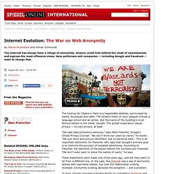Internet Evolution: The War on Web Anonymity