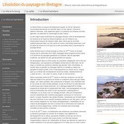 Site internet L'évolution du paysage en Bretagne
