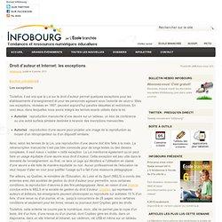 Droit d'auteur et Internet: les exceptions