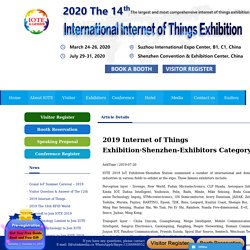 2019 Internet of Things Exhibition·Shenzhen-Exhibitors Category - 2020第十四届中国国际物联网博览会