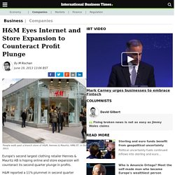 H&M Eyes Internet and Store Expansion to Counteract Profit Plunge