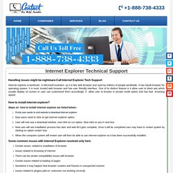 Internet Explorer Customer 1-888-738-4333 Service Number