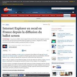 Internet Explorer en recul en France depuis la diffusion du ball