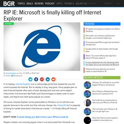 Internet Explorer Update: Microsoft to kill off Internet Explorer
