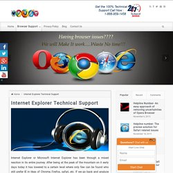 Internet Explorer Technical Support