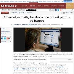 Vie de bureau : Internet, e-mails, Facebook: ce qui est permis au bureau