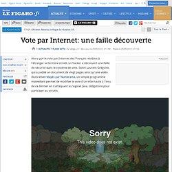 Vote par Internet: une faille découverte