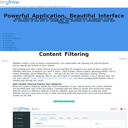 Internet Content Filtering - DNSFilter