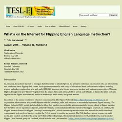 What's on the Internet for Flipping English Language Instruction?