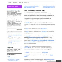 Effets Twitter sur le trafic des sites « internet et opinion(s)