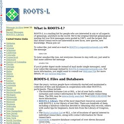 ROOTS-L: The Internet's First Genealogy Mailing List