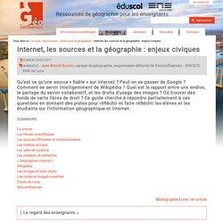 Internet, les sources et la géographie : enjeux civiques