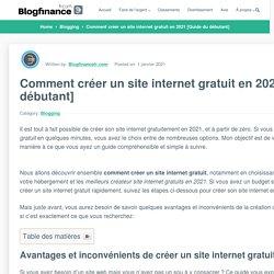 Créer son site internet gratuit en 2021 [Guide du débutant]