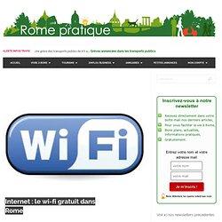 Internet : le wi-fi gratuit dans Rome « www.romepratique.com