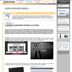L'Internet US en grève contre la loi SOPA
