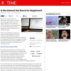 Internet Use Makes Us Happier, Says Mental-Health Study