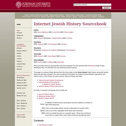 Internet History Sourcebooks Project