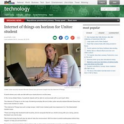 Internet of things on horizon for Unitec student