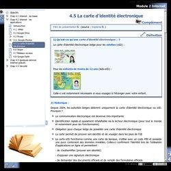 Module 2 Internet - 4.5 La carte d'identité électronique