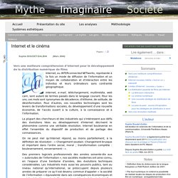 Internet et le cinéma « mythe-imaginaire-société