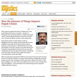How the Internet of Things Impacts Supply Chains