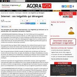 Internet : ces inégalités qui dérangent
