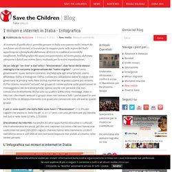 I minori e internet in Italia - Infografica - Save the Children - Blog