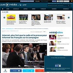 Internet, plus fort que la radio et la presse pour informer les Français sur la campagne