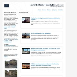 oxford internet institute | webcast | home