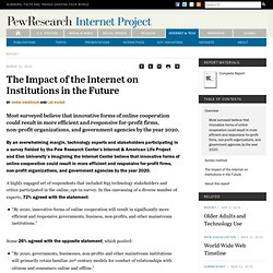 The Impact of the Internet on Institutions in the Future
