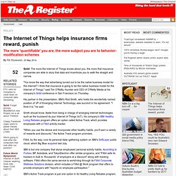 The Internet of Things helps insurance firms reward, punish