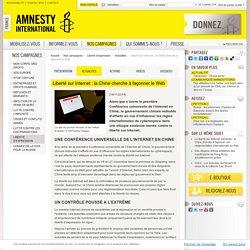 Liberté sur Internet : la Chine cherche à façonner le Web
