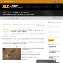 Gérer son site Internet, c'est jardiner - SLCServeur.com