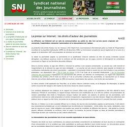6. La presse sur Internet : les droits d'auteur des journalistes