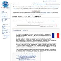 Droit de la preuve sur l'internet