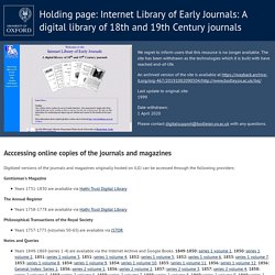 Internet Library of Early Journals