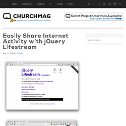 Easily Share Internet Activity with jQuery Lifestream