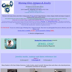 JEWEL CHAT  INTERNET COSTUME JEWELRY MAGAZINE brought to you by Morning Glory Antiques